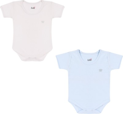 Lula Baby Boy's White, Blue Bodysuit