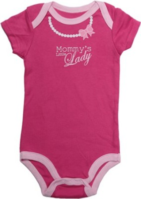 Luvable Friends Baby Girl's White, Pink Bodysuit