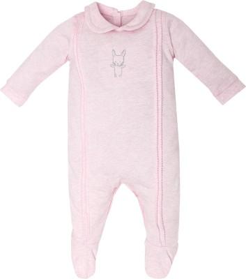 FS Mini Klub Baby Girl's Pink Sleepsuit