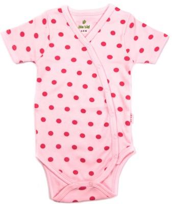 Bio Kid Grapics Designer Baby Girl's Pink Bodysuit