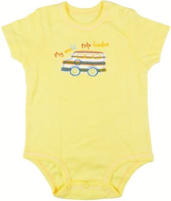 Ole Baby Style Star Baby Boy's Yellow Bodysuit