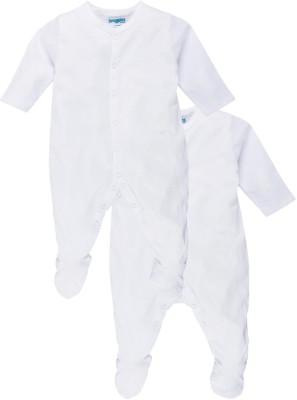 Snuggles Baby Boy's White Sleepsuit