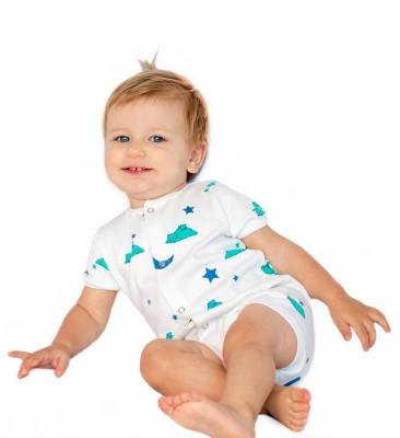 BACHHA ESSENTIAL Baby Boy's Blue Bears Bodysuit