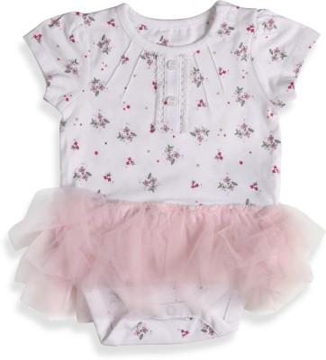 Mothercare Baby Girl's Baby Girl's White, Pink Bodysuit