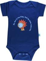Little Green Kid Organic Cotton Half Sleeve Envelope Neck Baby Boys Dark Blue Bodysuit