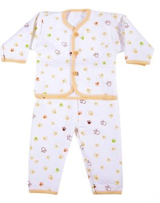 Zonko Style Baby Boy's White, Creme, Green Bodysuit and Bib