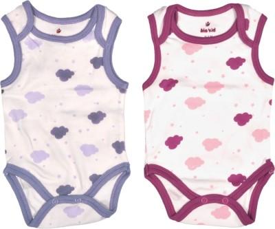 Bio Kid Designer Orchid Pink & Purple Aop Baby Girl's Multicolor Bodysuit