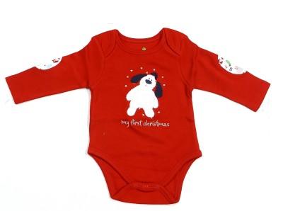 Bio Kid Baby Boy's Red Bodysuit