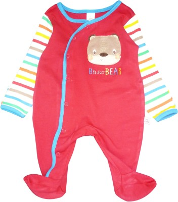 Toffyhouse Baby Boy's Red, Multicolor Sleepsuit