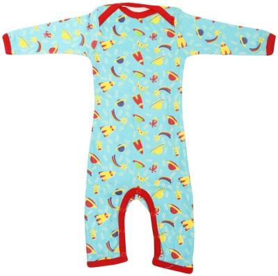 Earth Conscious Baby Boy's Blue Bodysuit