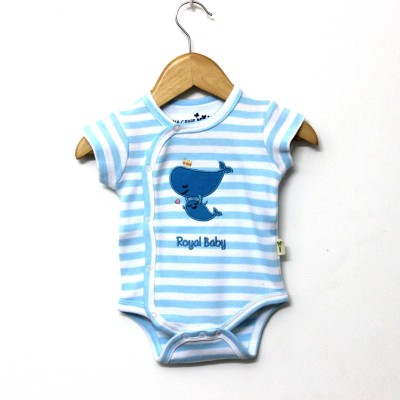 Little Green Kid Baby Girl's Blue, White Bodysuit