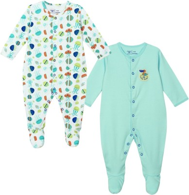 Mom & Me Baby Boy's Multicolor Sleepsuit