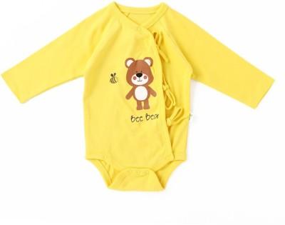 Little Green Kid Kimono Baby Boy's Yellow Bodysuit