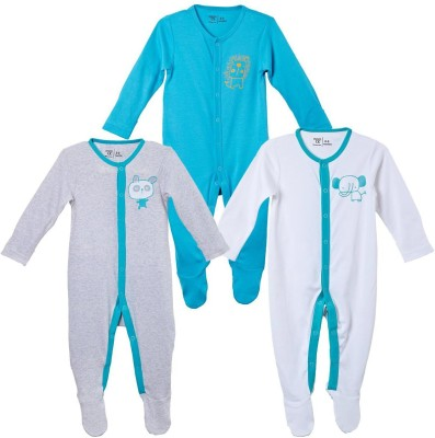 Mom & Me Baby Boy's Blue Sleepsuit