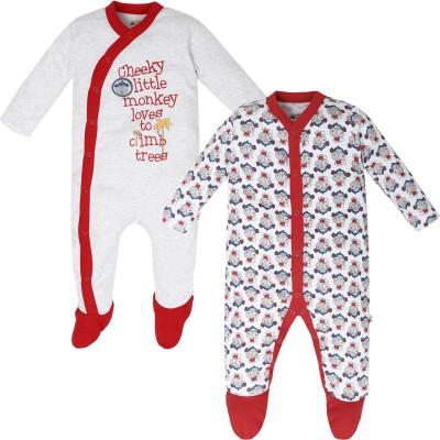 FS Mini Klub Baby Boy's Grey Sleepsuit