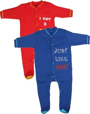 Gkidz Baby Boy's Red, Blue Sleepsuit