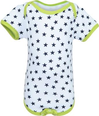Nino Bambino Baby Boy's Blue, White Bodysuit