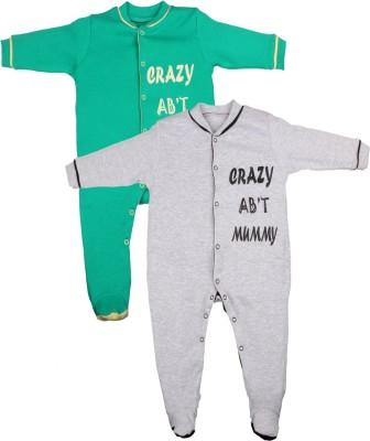 Gkidz Baby Boy's Green, Grey Sleepsuit