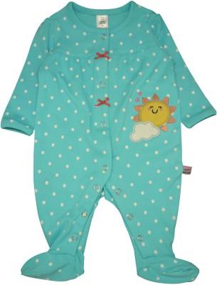 Toffyhouse Baby Girl's Blue Sleepsuit