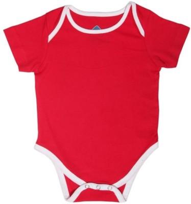 Blue Bus Store Slogan T-Shirts Baby Boy,s Red Bodysuit