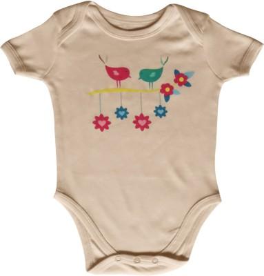 Kothari Baby Girl's Brown Romper