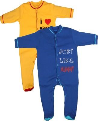 Gkidz Baby Boy's Yellow, Blue Sleepsuit
