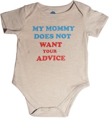 Blue Bus Store Slogan Baby Boy,s Beige Bodysuit