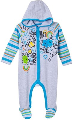 Mom & Me Baby Boy's Grey Sleepsuit