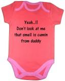 Chota Packet Baby Boys Orange Bodysuit