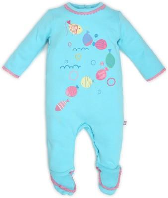 FS Mini Klub Baby Girl's Blue Sleepsuit