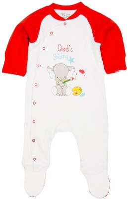 Mom & Me Baby Boy's Red Sleepsuit