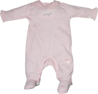 FS Mini Klub Layette Baby Girl's Pink Sleepsuit