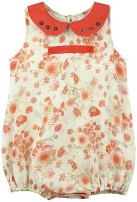 Snuggles Baby Girl's Orange Bodysuit