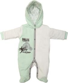 little studio Baby Boys mint green Bodysuit