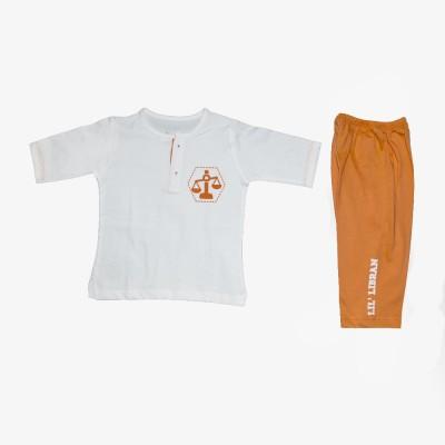 You Got Plan B Boy's Orange, White Sleepsuit