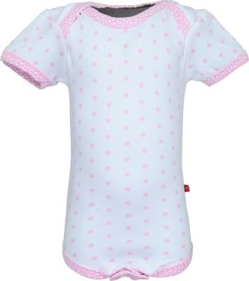 Nino Bambino Baby Girl's Pink, White Bodysuit