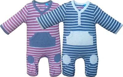 Instyle Baby Boy's Maroon, Blue Bodysuit