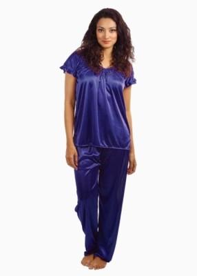 Klamotten Women's Purple Sleepsuit at flipkart