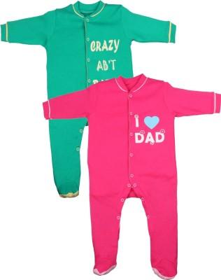 Gkidz Baby Boy's Green, Pink Sleepsuit