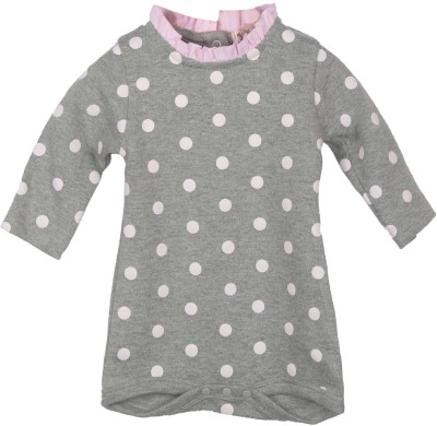My Lil, Berry Baby Girl's Grey, Pink Bodysuit
