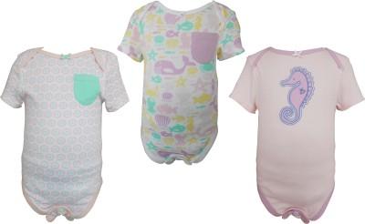 teddy's choice Baby Girl's Pink Bodysuit