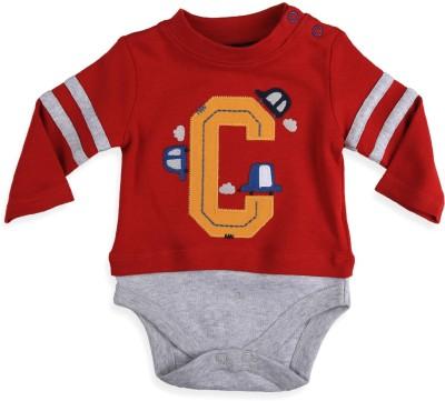 Mothercare Baby Boy's Baby Boy's Grey, Red Bodysuit