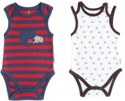 Bio Kid Grapics Designer Baby Boy's Multicolor Bodysuit