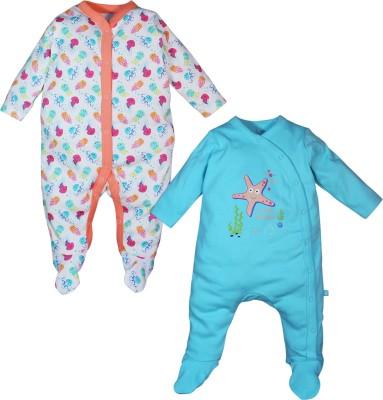 FS Mini Klub Baby Girl's Green Sleepsuit