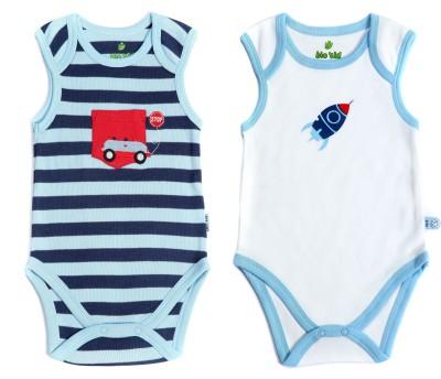 Bio Kid Infant Baby Boy's White, Blue Bodysuit