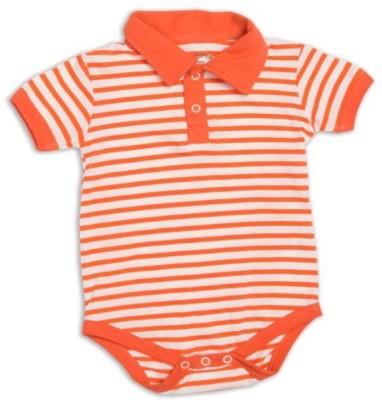 Nino Bambino Baby Boy's Orange Bodysuit