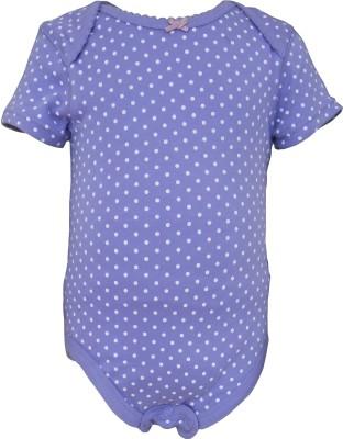 Teddy's Choice Baby Girl's Purple Bodysuit