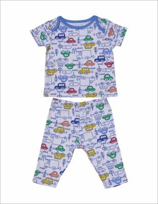 Babysafe Baby Boy's Multicolor Sleepsuit
