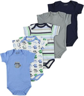 Luvable Friends Baby Boy's Blue, Grey, Green Bodysuit