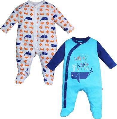 FS Mini Klub Baby Boy's Blue Sleepsuit